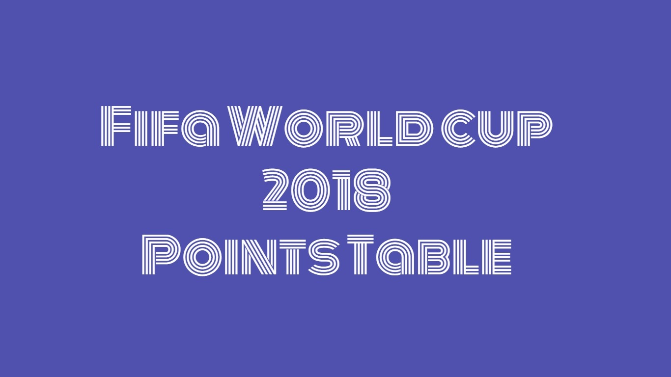 fifa world cup points table