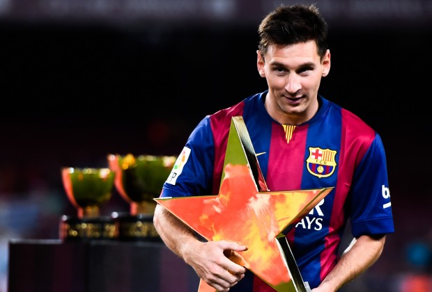 lionel messi with awards