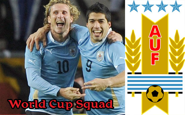 uruguay football players world cup squad