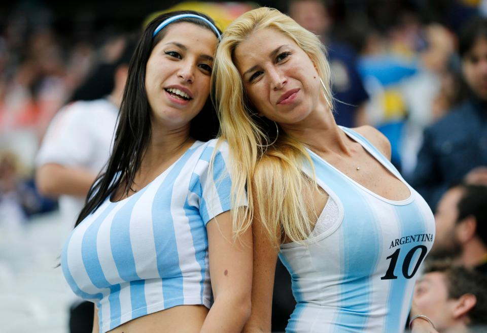 Argentina Female Football fans ready to cheer their country in world cup