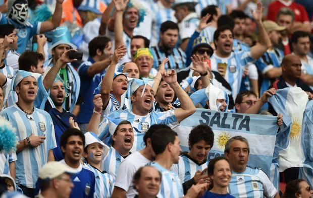 Argentina football team fans