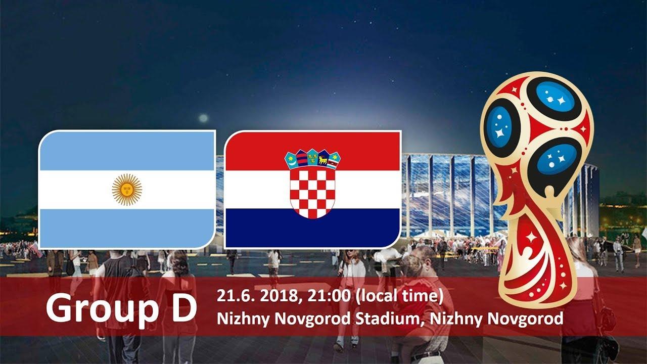 Argentina vs Croatia 2018 world cup football Game of 21 June