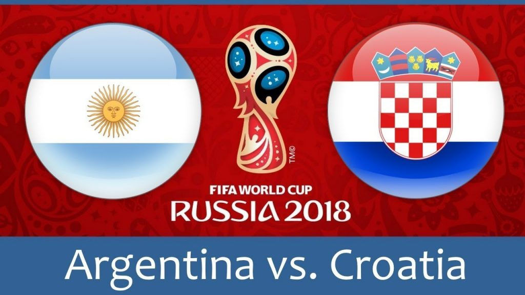 Argentina vs Croatia world cup match hd photos with both team flag