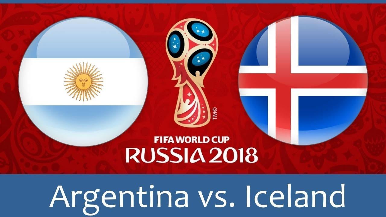Argentina vs Iceland Football world cup match hd photos with both team flag