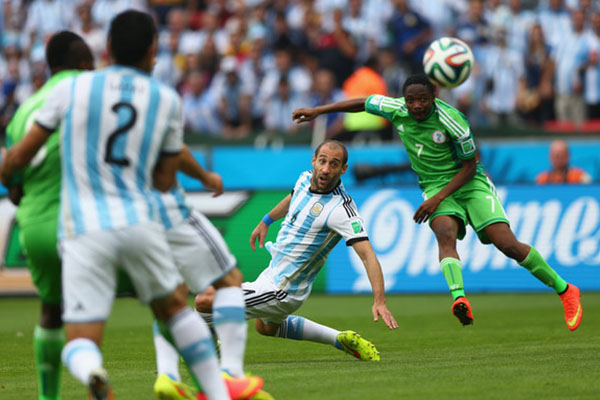 Argentina vs Nigeria football match