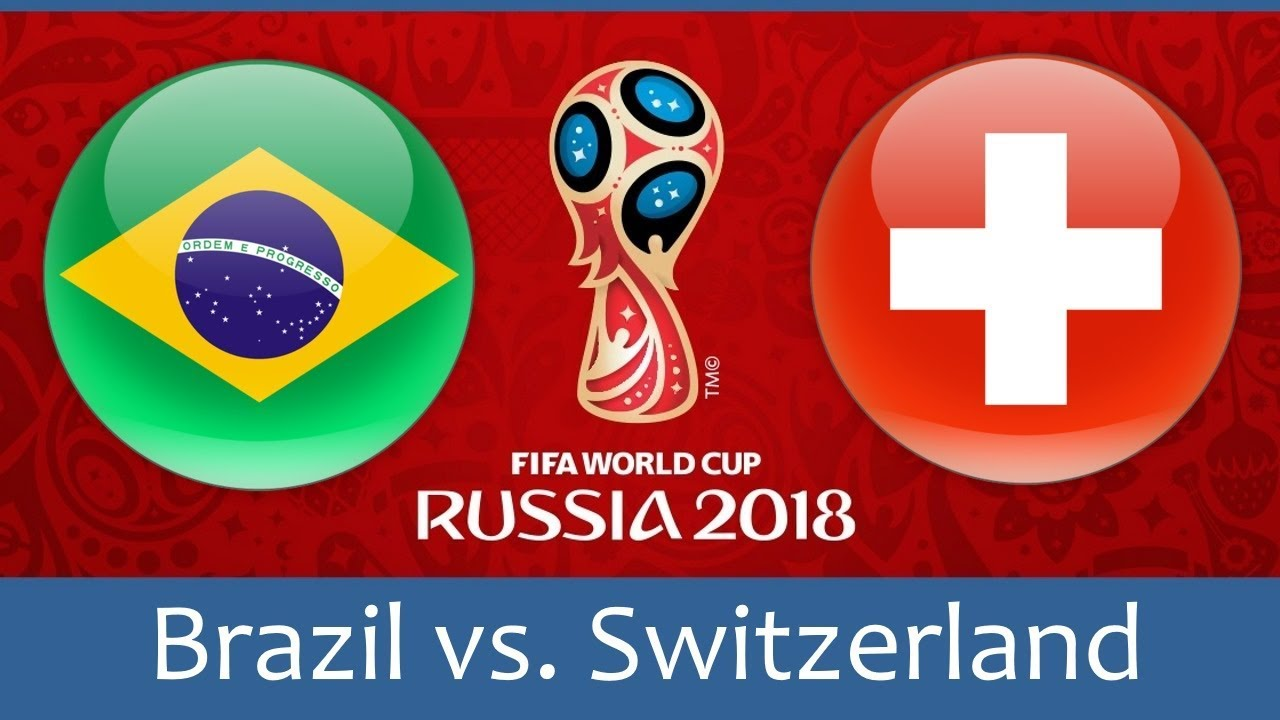 Brazil vs Switzerland world cup match hd photos with both team flag