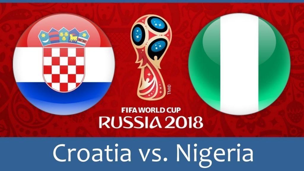 Croatia vs Nigeria Football world cup match hd photos with both team flag