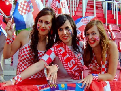 Croatian girls ready to cheer their nation in world cup