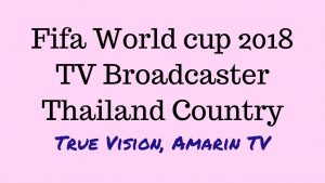 2018 World cup live stream in Thailand – True Vision & Amarin TV broadcast on TV