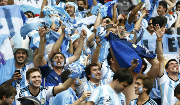 Football Crazy Argentina fans support their country in world cup