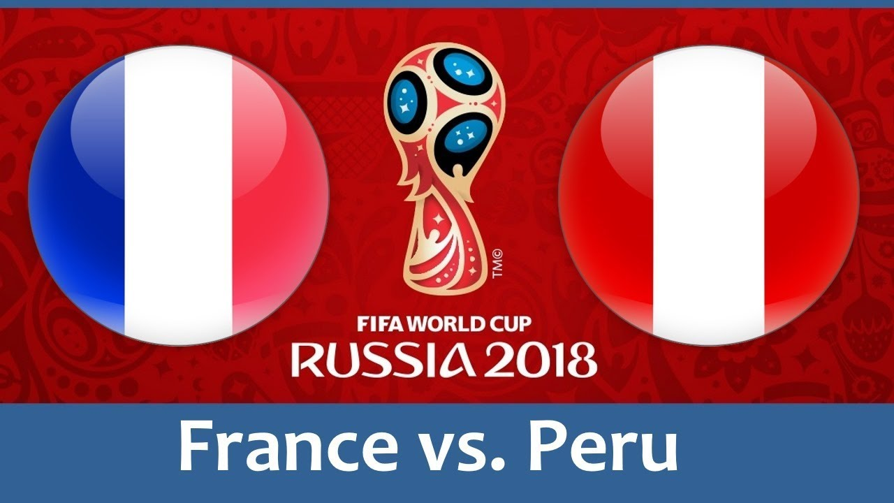 France vs Peru 2018 world cup football Game of 21 June