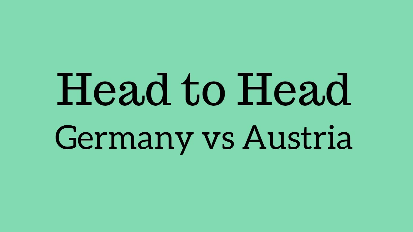 Germany vs Austria head to head