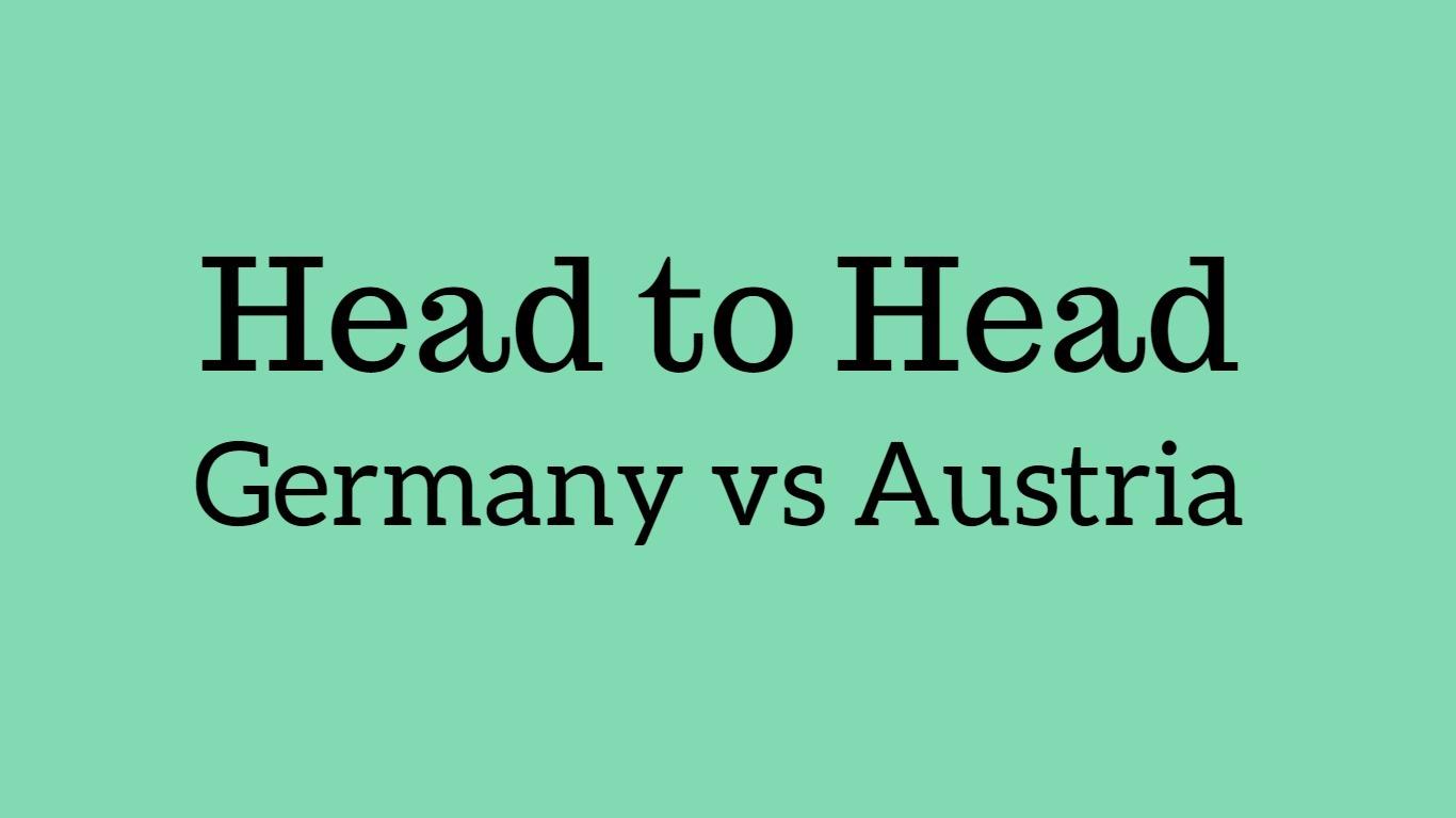 Germany vs Austria head to head