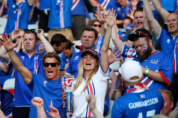 Happy Faces of Iceland football fans