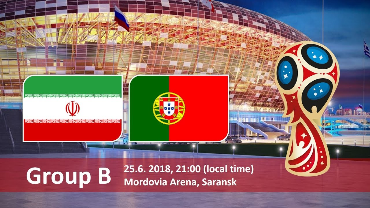 Iran vs Portugal 2018 world cup football Game of 25 June