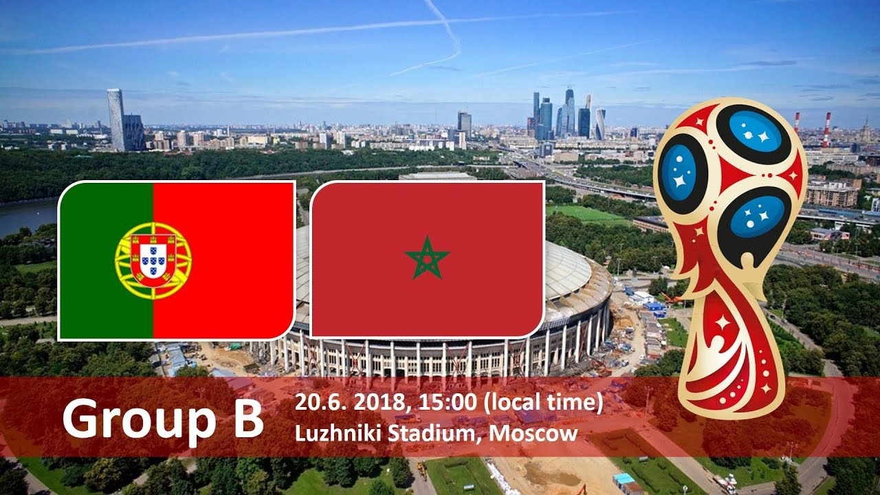 Portugal vs Morocco 2018 world cup football Game of 20 June