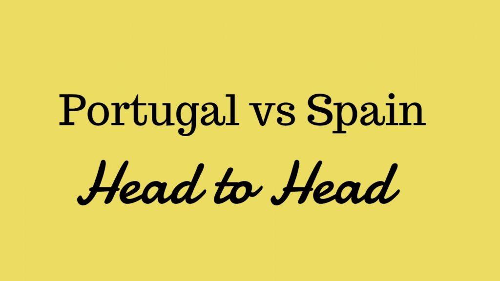 Portugal vs spain head to head