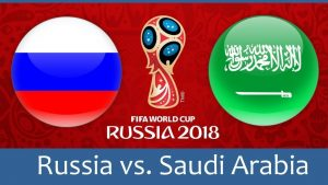 Rusia vs Arabia Saudita en vivo en línea World Cup Opener 2018