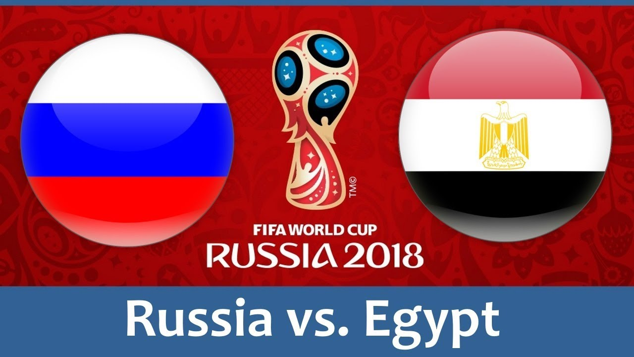 Russia vs egypt world cup match hd photos with both team flag