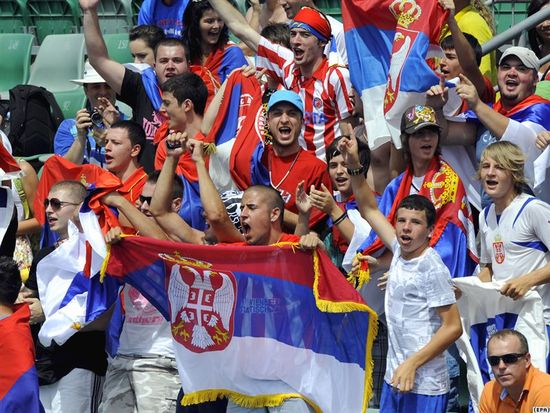 Serbia fans ready to cheer their nation in fifa world cup