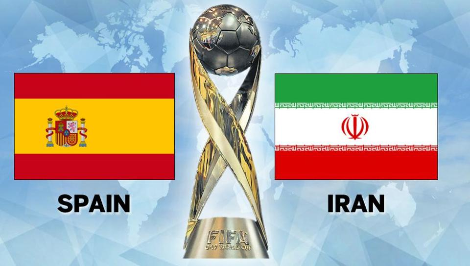 Spain vs Iran football match