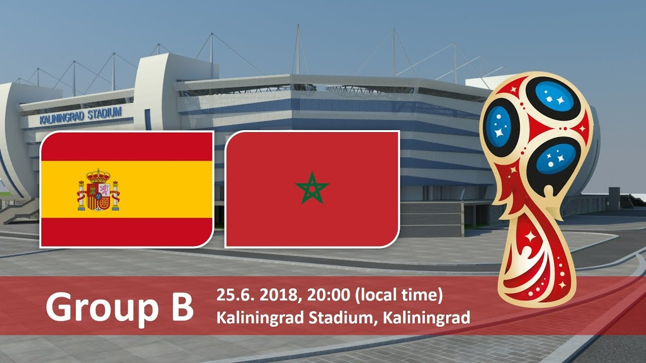 Spain vs Morocco 2018 world cup football Game of 25 June