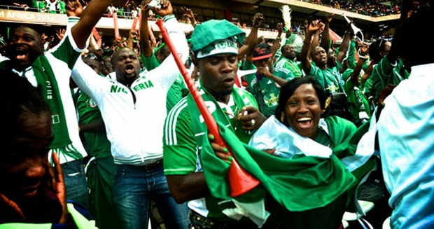 Super Eagles supporter in football world cup competition
