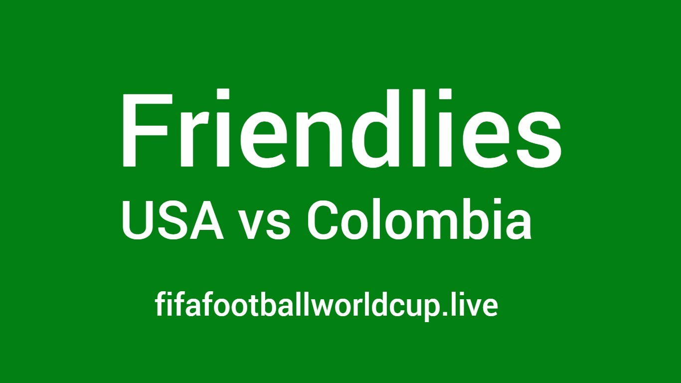 USA vs Colombia friendly football match