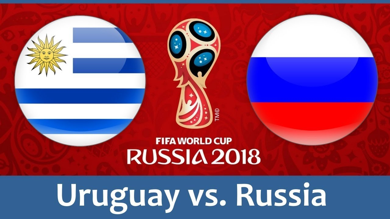 Uruguay vs Russia world cup match hd photos with both team flag