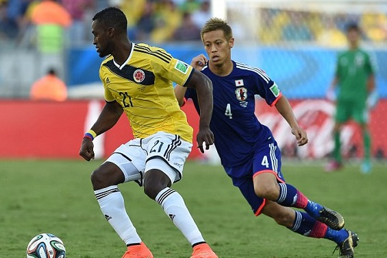 colombia vs japan football match
