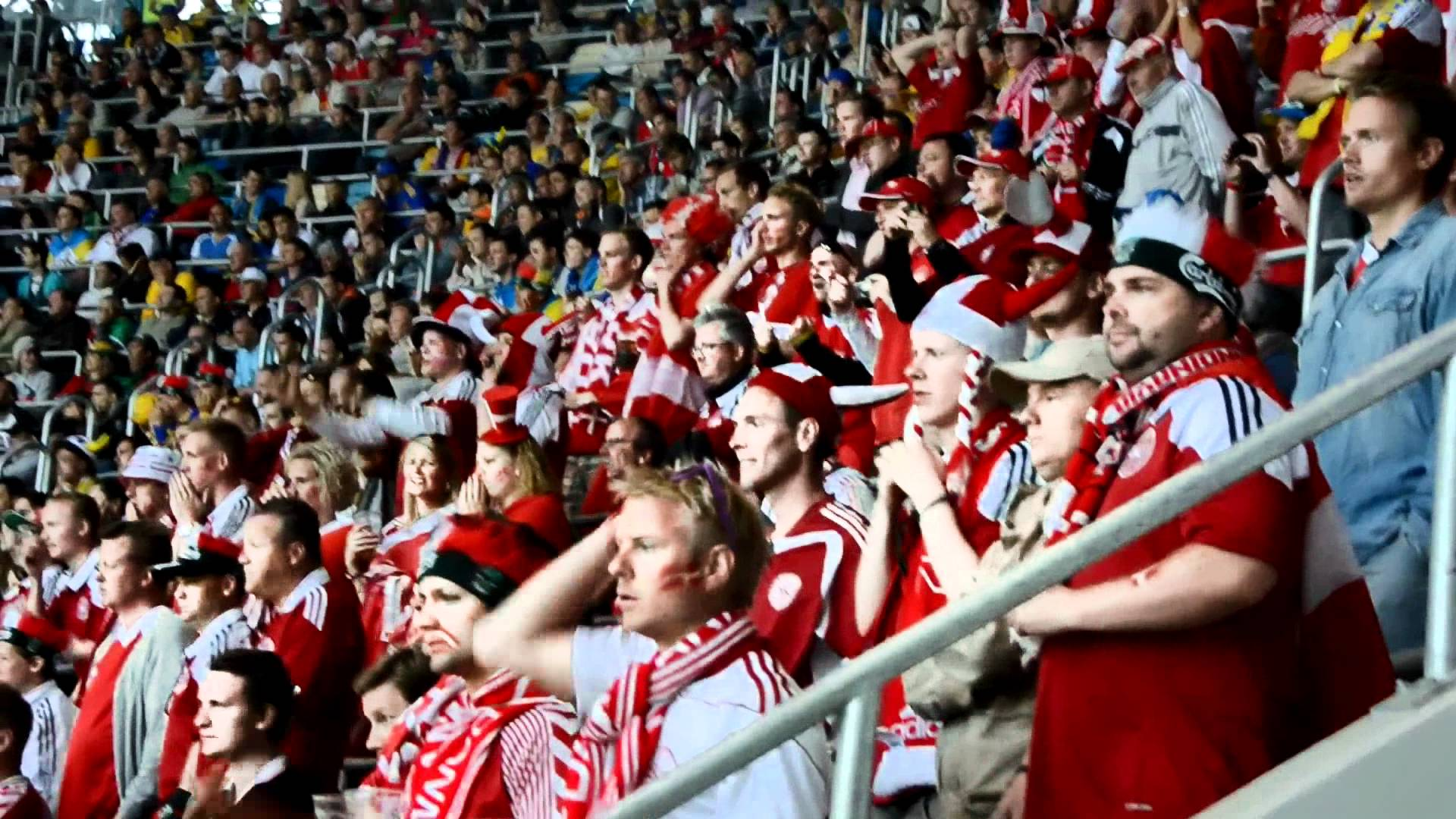 denmark fans cheer their nation in football world cup