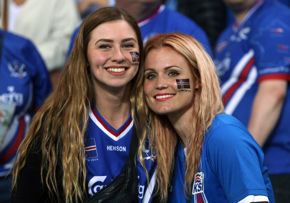 iceland football fans photo of glamerous girls
