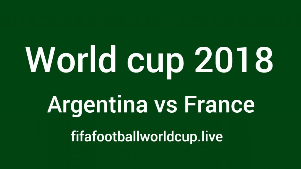 Argentina vs France football world cup match