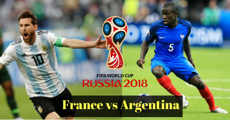 Argentina vs France football world cup round of 16 match