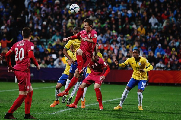 Brazil vs Serbia football match