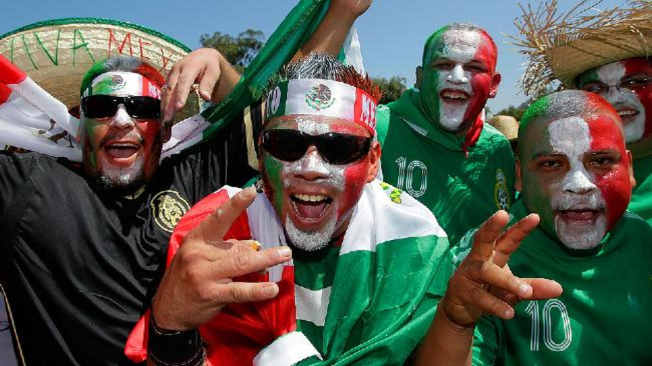 Crazy Faces of Mexico football fans