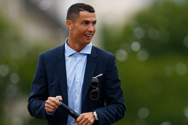 Cristiano Ronaldo HD pictures with wearing black suit