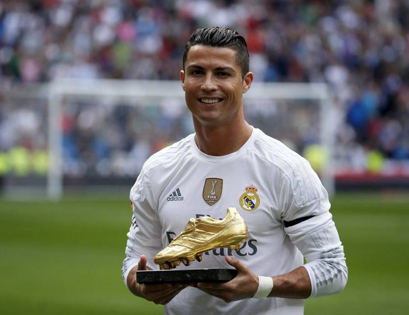 Cristiano Ronaldo images with Golden boot