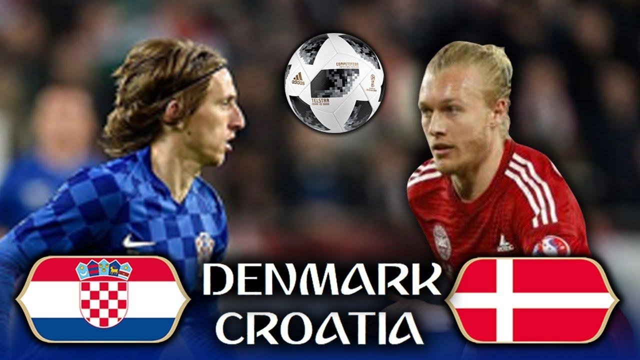 Croatia vs Denmark round of 16 world cup football match