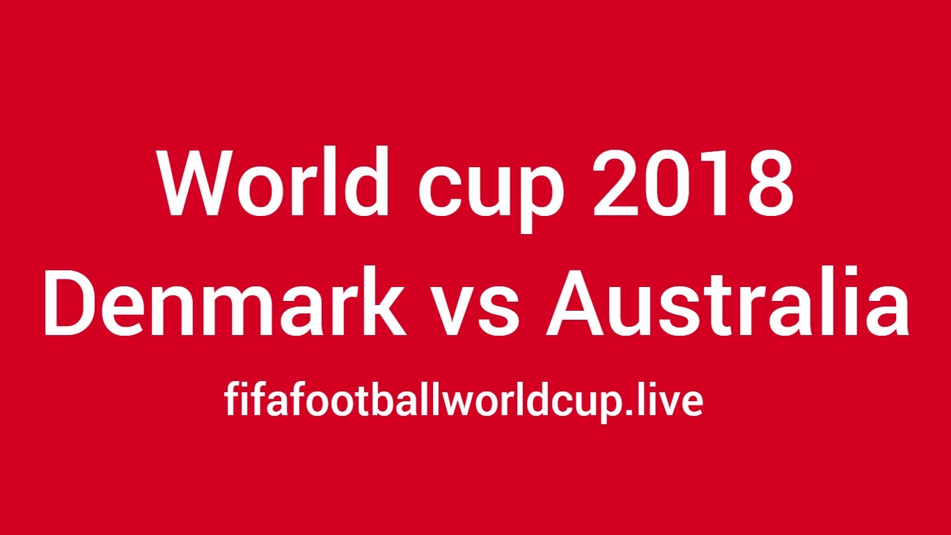 Denmark vs Australia football match