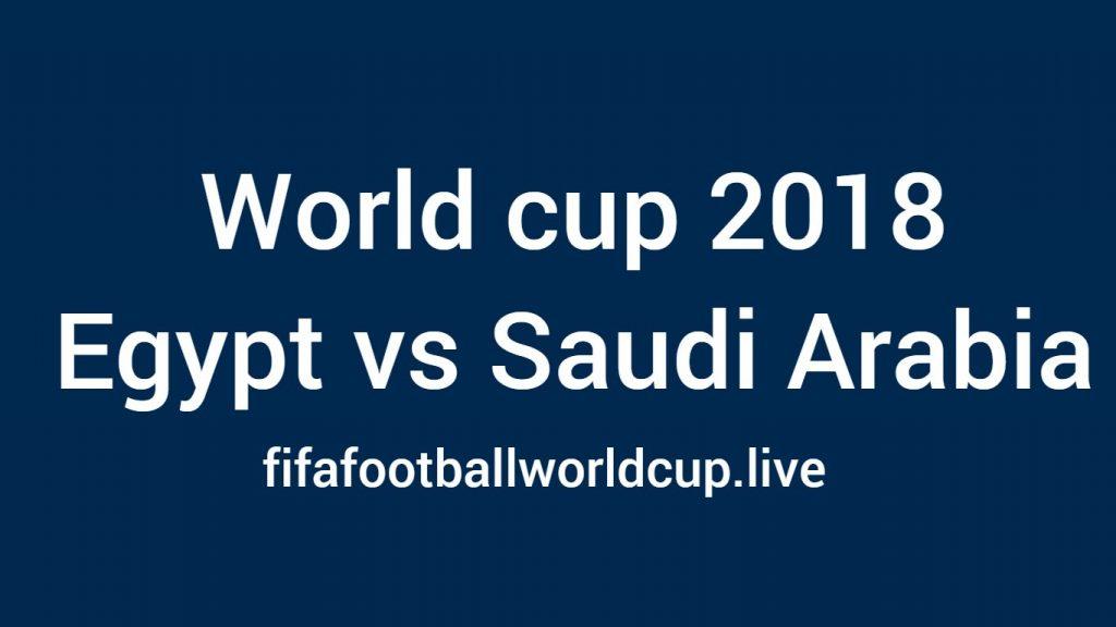 Egypt vs saudi Arabia football match