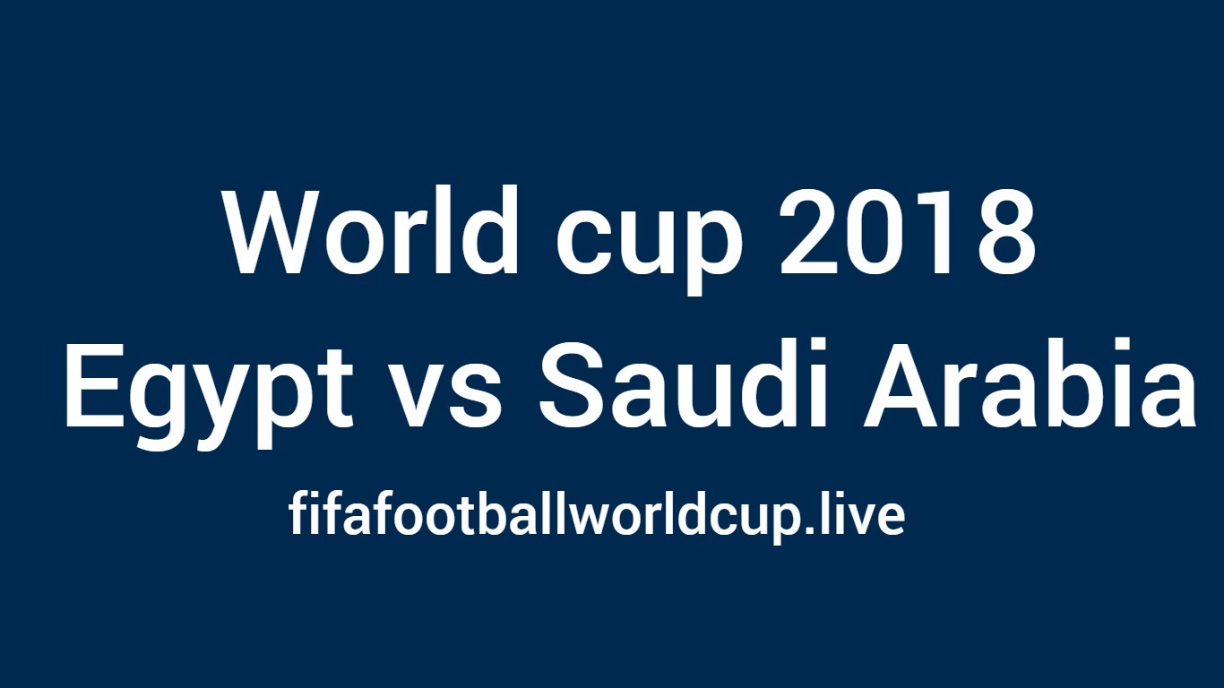 Egypt vs saudi Arabia football match