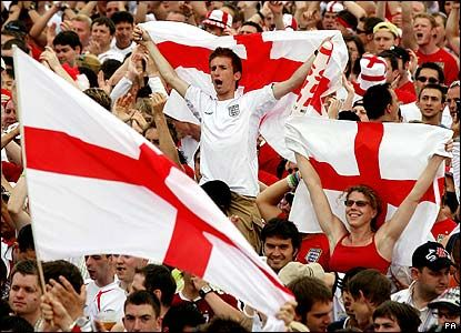 England football fans ready to support their nation in world cup