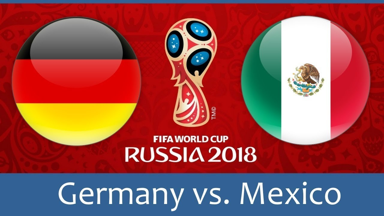 Germany vs Mexico world cup match hd photos with both team flag
