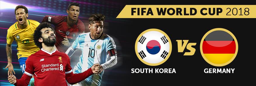 Germany vs South Korea football world cup match