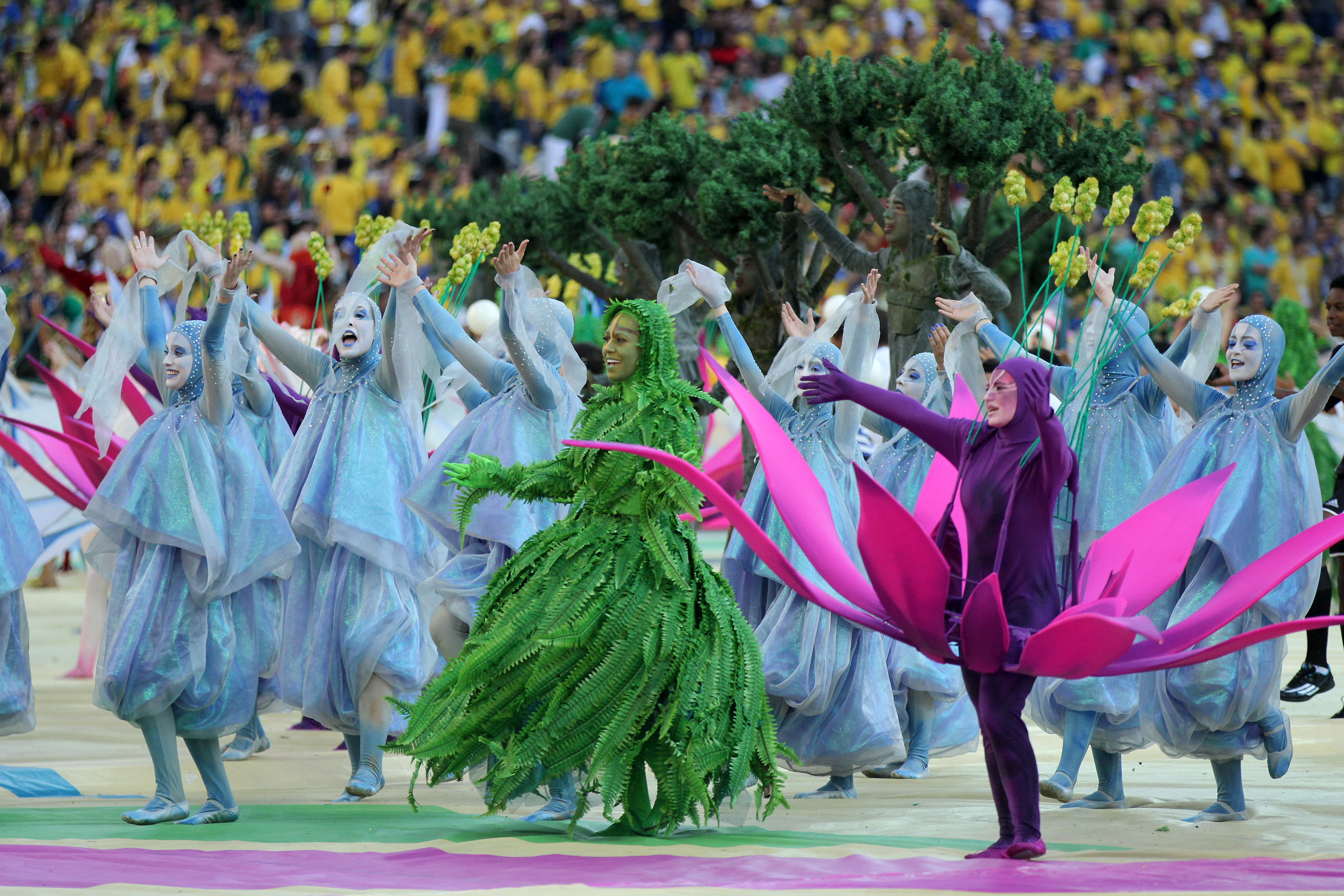Great performance during the opening ceremony on world cup