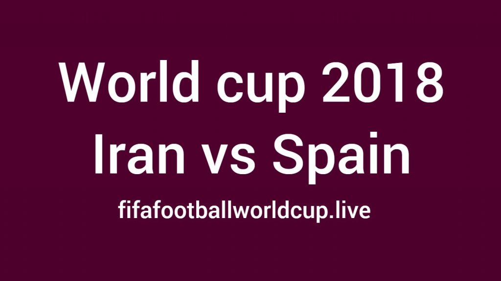 Iran vs Spain football match