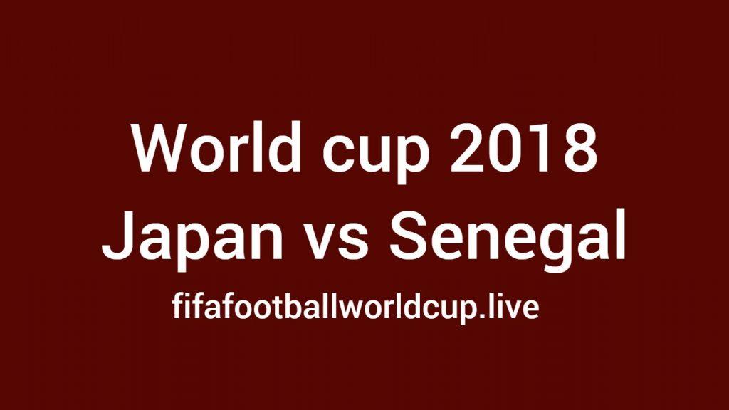 Japan vs Senegal football game