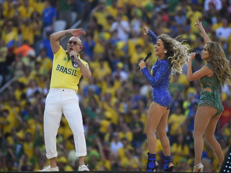 Jennifer Lopez and Pitbull performance during the brazil 2014 opening ceremony