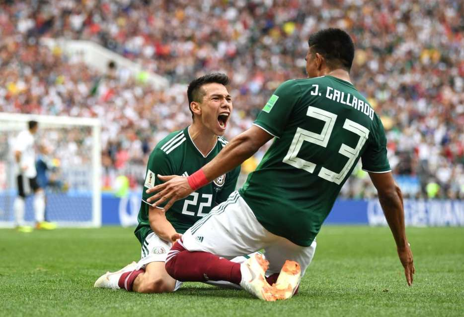Mexico beat the Germany in the 2018 world cup group stage match